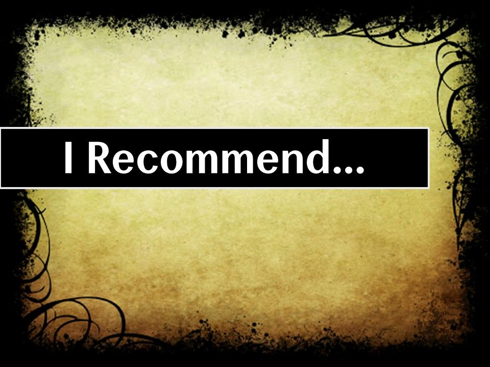 I Recommend Jesus